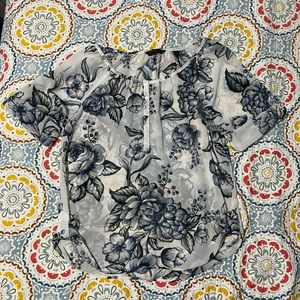 Investments Women's Floral Sheer Blouse size Large